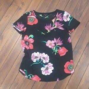 Ann Taylor Hawaiian Floral Blouse Size XS